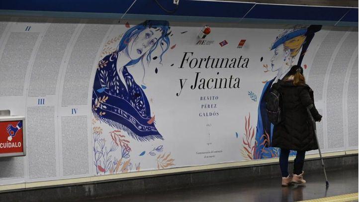 La estación de Metro de Ríos Rosas homenajea a Galdós con un texto de 'Fortunata y Jacinta'