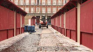 El mercado de Navidad de la Plaza Mayor, en pie a pesar del Covid-19