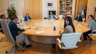 Reunión de portavoces del Ayuntamiento de Madrid.