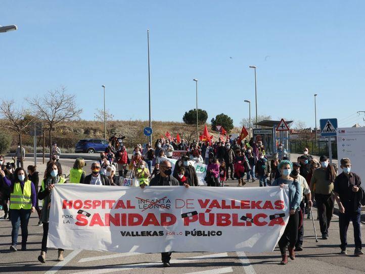 Vecinos de Vallecas piden el refuerzo de la Sanidad pública