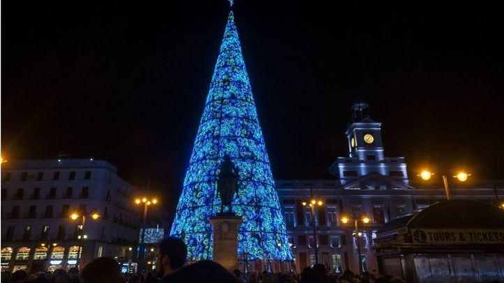 Decoración navideña en la Puerta del Sol