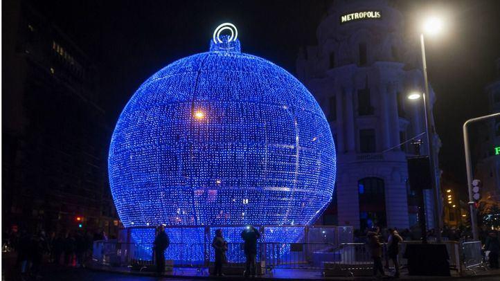 Decoración navideña en Madrid