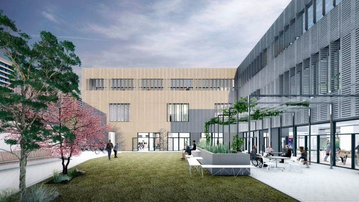 Imagen del proyecto de construcción del centro de mayores de Arganzuela.