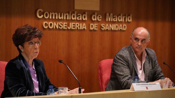 El viceconsejero de Salud Pública y Plan COVID-19, Antonio Zapatero, y la directora general de Salud Pública, Elena Andradas