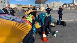 Herido grave tras caer de su moto en la carretera de Villaverde a Vallecas