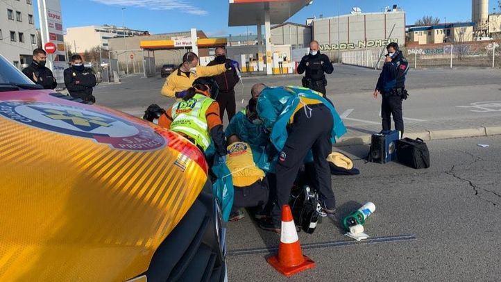 Accidente de moto en la carretera de Villaverde a Vallecas