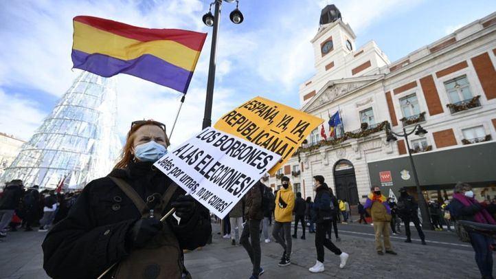 Manifestación a favor de la III República en el Día de la Constitución