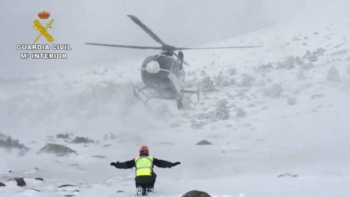 Rescatados dos hombres con síntomas de hipotermia en Peñalara