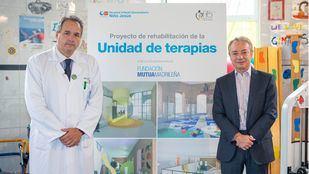 César Gómez, gerente del Hospital Niño Jesús y Lorenzo Cooklin, director general Fundación Mutua.