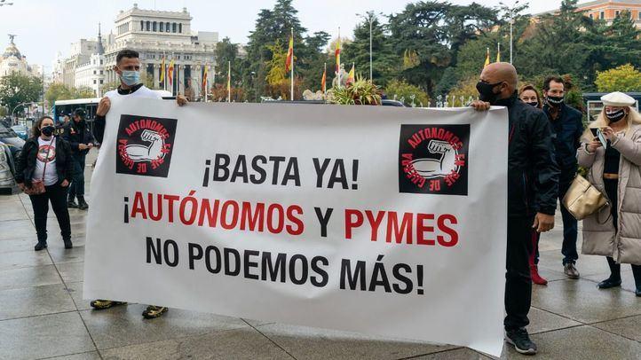 Manifestación de Autónomos en Cibeles.