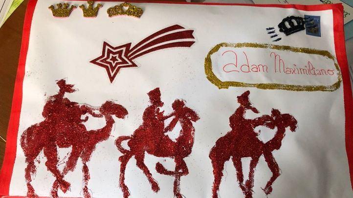 Una de las cartas a los Reyes Magos recibidas en el colegio Sagrados Corazones.