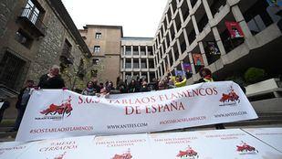 Protesta del sector del flamenco en la Plaza del Rey.