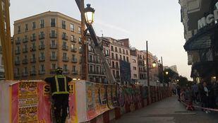 Obras del metro en la calle Montera