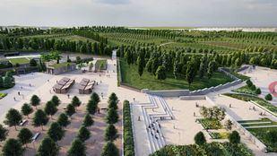 Imagen del nuevo Parque Central de Valdebebas.