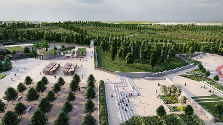 Tres carriles bici y 5.500 árboles en el parque Central de Valdebebas, listo en 2023