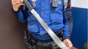 Detenidos siete jóvenes y requisado un machete en una pelea en Carabanchel