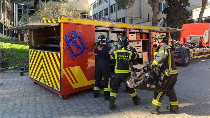 Intoxicados tras un incendio en un edificio de Fuencarral-El Pardo