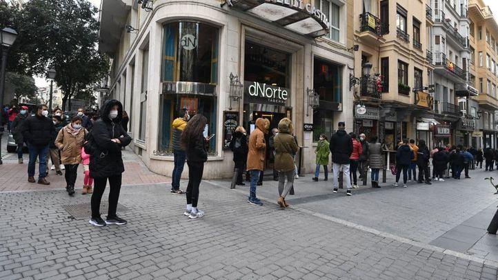 Las administraciones de lotería del centro de Madrid con grandes colas a dos días del Sorteo de Navidad