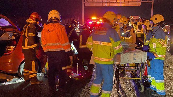 Heridos en un accidente múltiple con ocho vehículos implicados