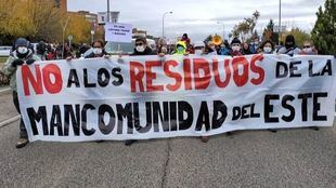 Manifestación de los vecinos de Vallecas en contra de la incineradora de Valdemingómez