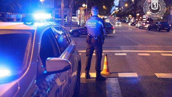 Detenido un conductor ebrio tras chocar en el paseo de la Castellana