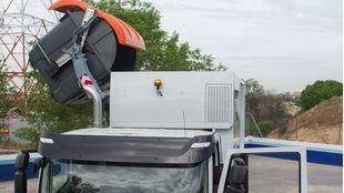 Camión de recogida de residuos del Ayuntamiento de Madrid