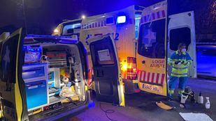 Los servicios de emergencias, en el lugar del suceso en Villanueva del Pardillo