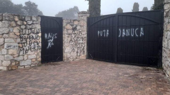 El cementerio judío de Madrid sufre un ataque vandálico con pintadas antisemitas