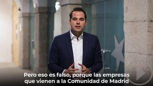 Aguado defiende el modelo fiscal de Madrid