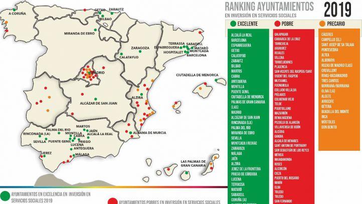 Los ayuntamientos madrileños más