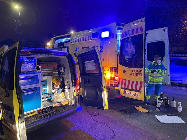 Dos heridos graves en la región por accidente de tráfico y agresión con arma blanca