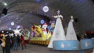 Cabalgata de Reyes Magos estática en Fuenlabrada