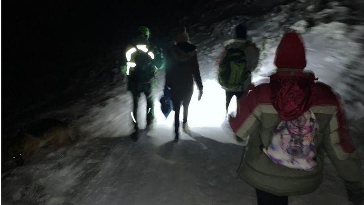 Rescatadas cinco personas en la sierra madrileña con síntomas de hipotermia