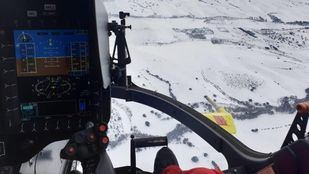 Helicóptero del SUMMA 112 para ayudar durante el temporal de nieve