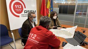 Reunión del PLATERCAM (Plan Territorial de Protección Civil de la Comunidad de Madrid) del sábado, 9 de enero.