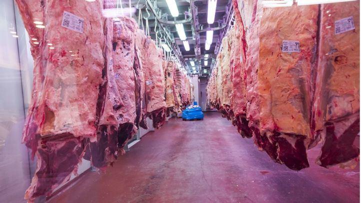 La sección de carne de Mercamadrid.  celebra xx aniversario  con jornada de puertas abiertas hoy degustación de carne, demostraciones de corte.