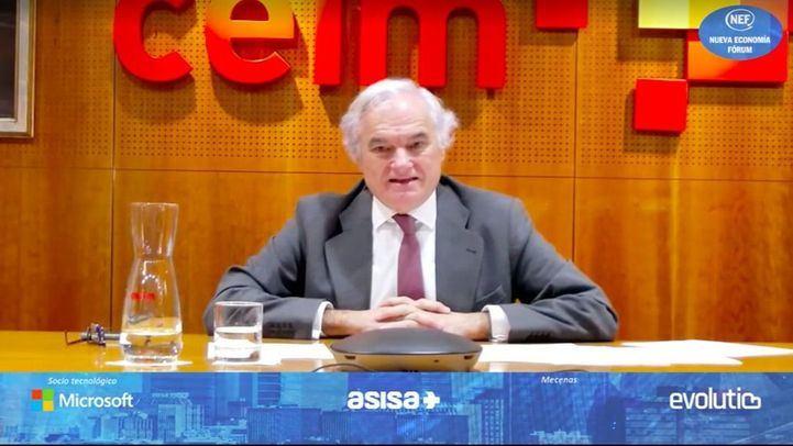 Miguel Garrido, presidente de CEIM y vicepresidente de la CEOE en Nueva Economía Fórum