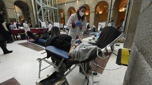 La Real Casa de Correos se convierte en una improvisada sala de donación de sangre