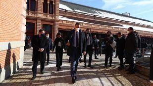Sánchez visita el Centro de Circulación Ferroviaria de Adif en Atocha