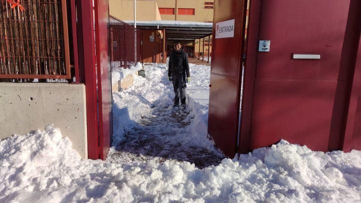 Situación del Colegio Torrevilano tras la tormenta Filomena
