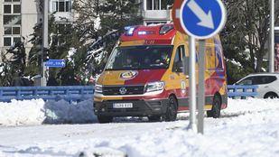 Samur y Bomberos de Madrid realizan 190 intervenciones en 12 horas por problemas causados por Filomena