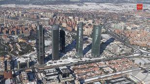 Madrid desde el aire una semana después de Filomena
