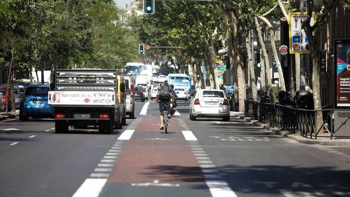 Las obras del carril bici de la Castellana, a finales de 2021