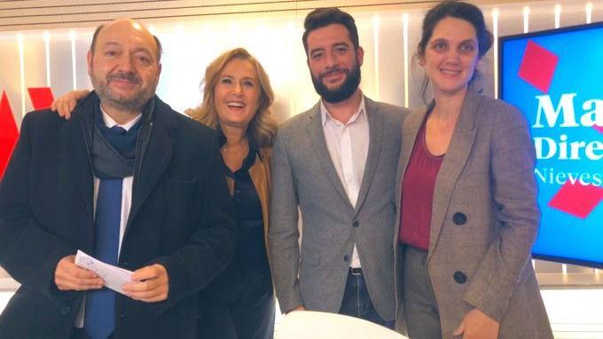 Los diputados de la Asamblea de Madrid Pilar Sánchez Acera (PSOE) y César Zafra (Ciudadanos)