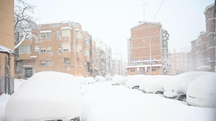 La Elipa, bajo la nieve