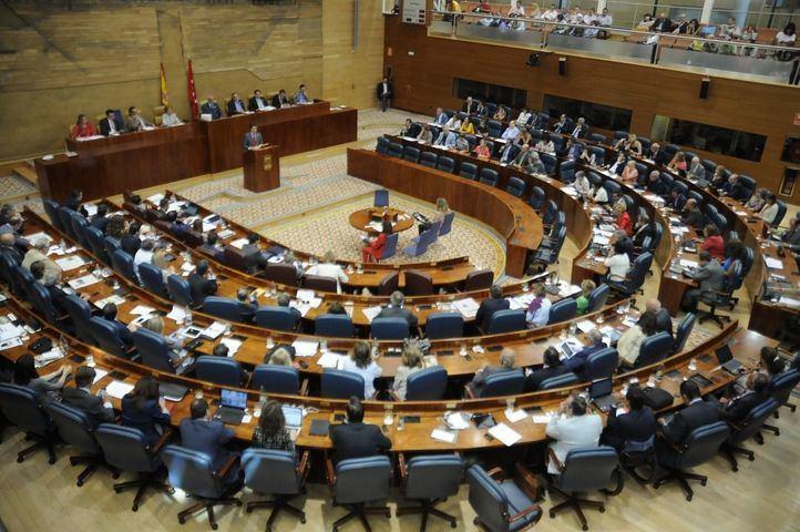 Pleno de la Asamblea de Madrid. Habla Gonzalez