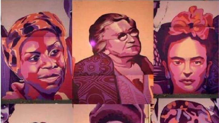 Mural feminista en el centro polideportivo municipal La Concepción