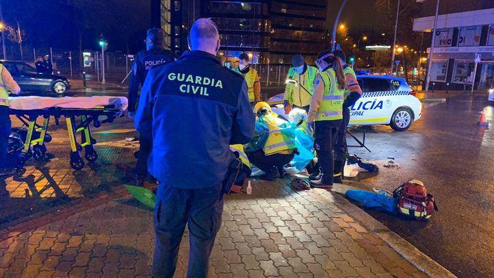 Muy grave tras perder el control de la moto y salir despedido en Francisco Silvela