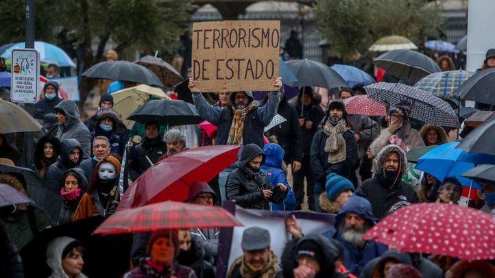 La Policía Nacional puso 216 multas a los participantes de la marcha negacionista en Madrid