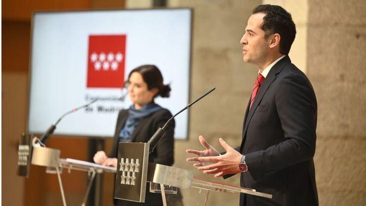 Ayuso y Aguado anuncian el borrador de Presupuestos para 2021